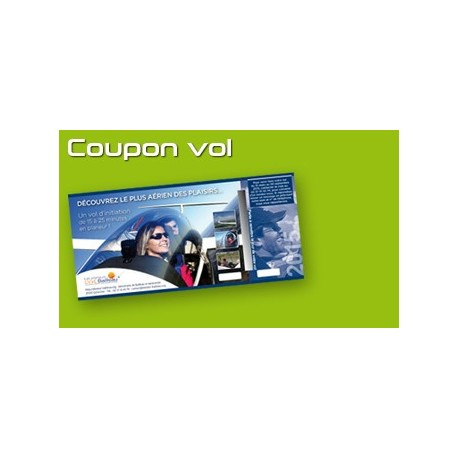 Pack de 10 coupons vol en planeur